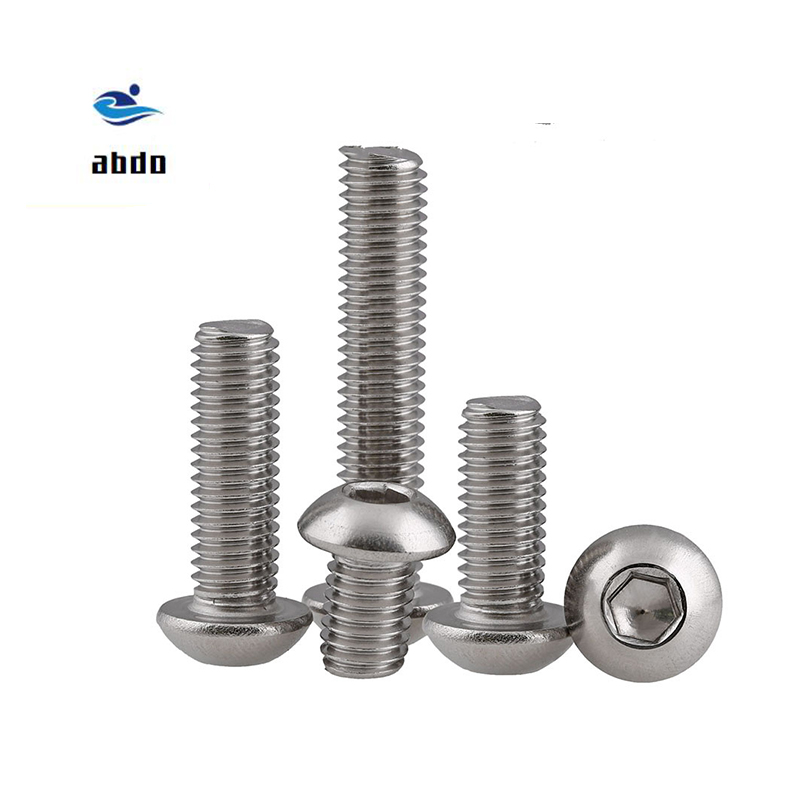 (20 pc/lot) M5,<font><b>M6</b></font>,M8 *L =8~<font><b>50mm</b></font> ISO7380 Stainless Steel A2 Hex socket button head cap toy screw image