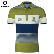 Men's Polo Shirt Air Cotton Short Sleeves Letter Logo Famous Brand Slim Gradient England Style 2018 Fashionable Element