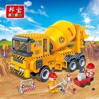 Çocuklar için banbao şehir eğitim blokları oyuncaklar çocuklar hediyeler beton cars kamyon istasyonu kentsel inşaat çıkartmalar