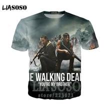 fd605f4ccf LIASOSO The Walking Dead no hope men t shirt Tees male negan the walk dead  Rick