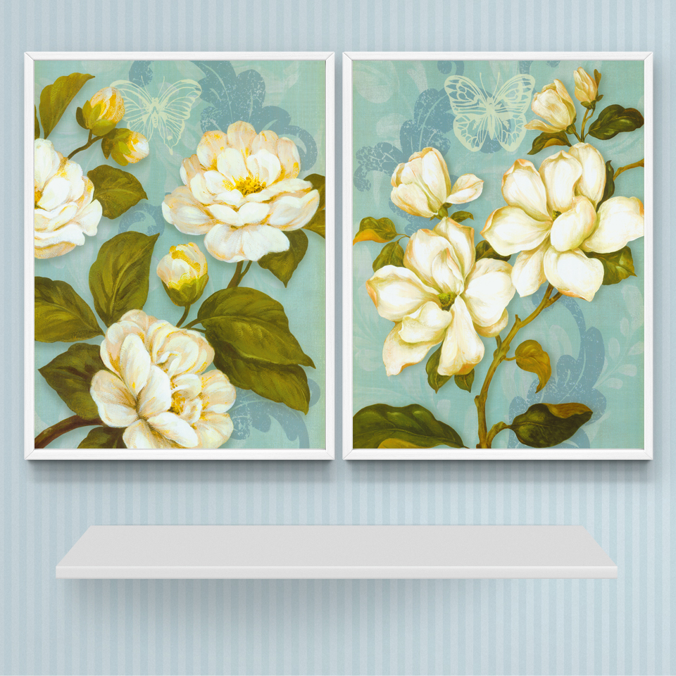 Nordic Style Flower Classical Artwork Art Canvas Poster Print ...