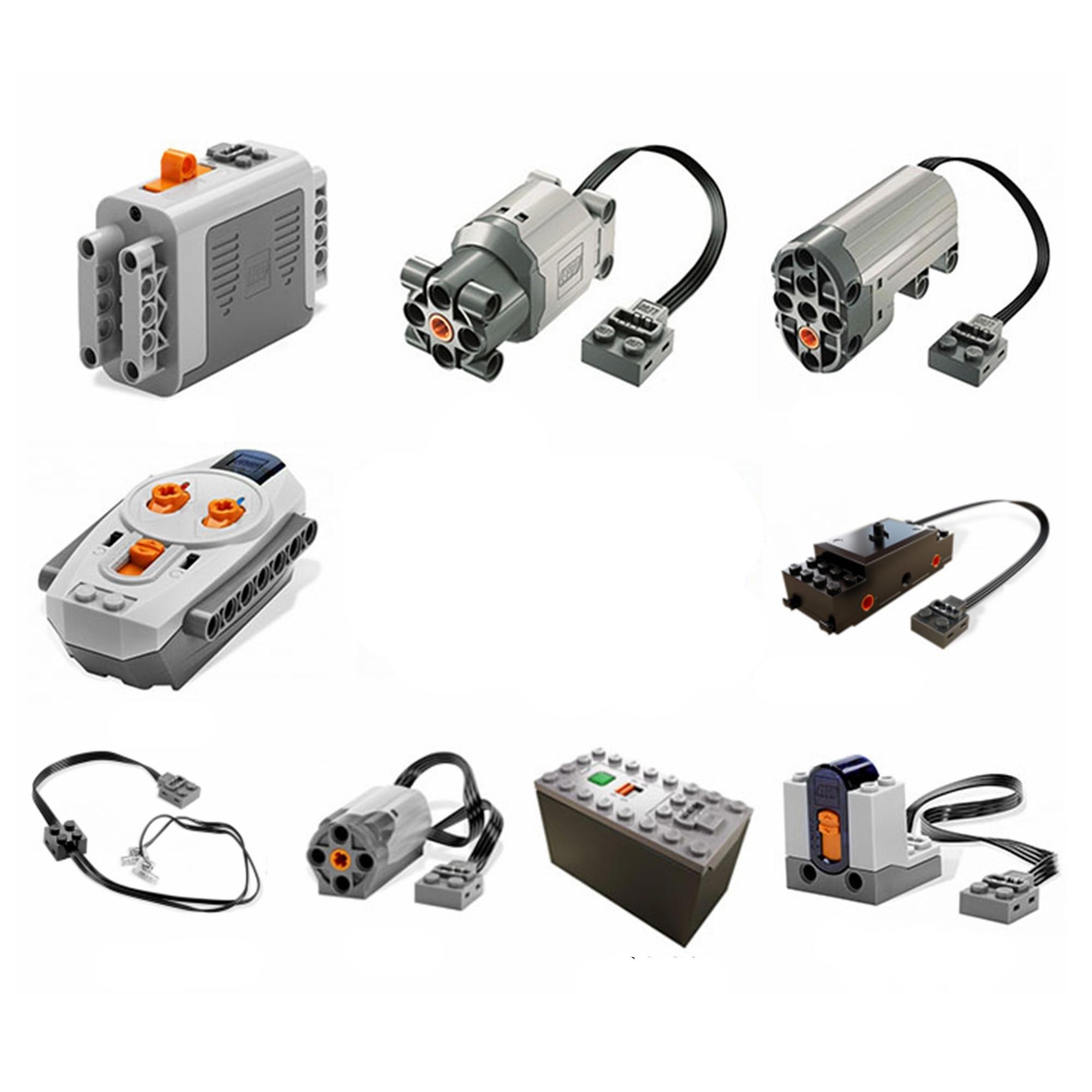 Technic Series Parts Servo Motor Battery Box Remote