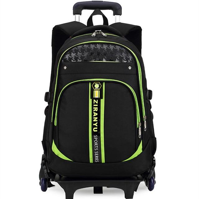 waterproof Nylon children school bags 3 wheels Palou kids backpack Child shoulder Girls Book bag Boy students trolley schoolbag