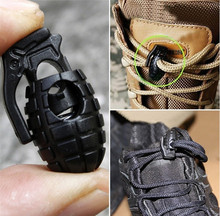 2000pcs Shoelace Shoe Lace Grenade Buckle Stopper Rope Clamp Paracord Lock Camp Hike Outdoor Survive Cord Clip