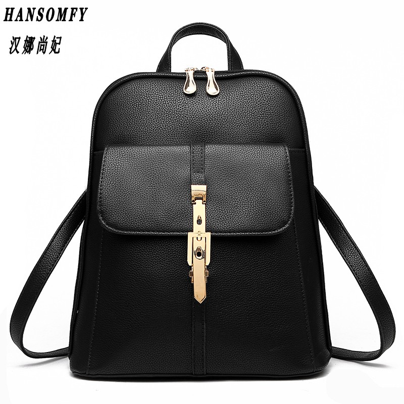 HNSF 100% Genuine leather Women backpack 2017 New wave of female students backpack spring and summer fashion casual Korean bag 2209 wholesale 2017 new spring and summer man casual backpack wave packet multi function oxford backpack