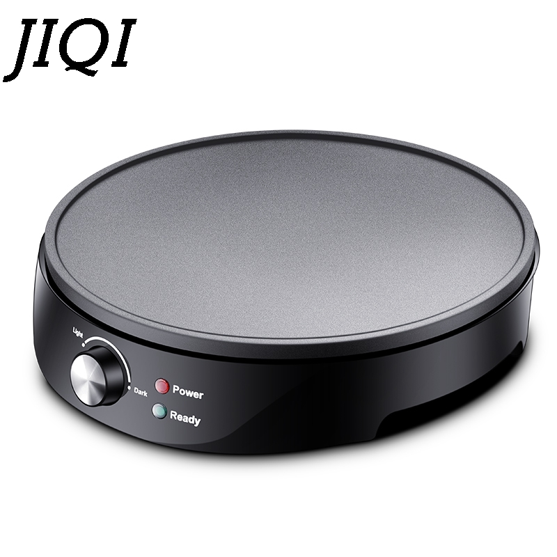 JIQI Non-stick Electric Crepe Maker Pizza Pancake Baking Pan Griddle Chinese Spring Roll Pie Frying Steak Cooker Roaster EU Plug