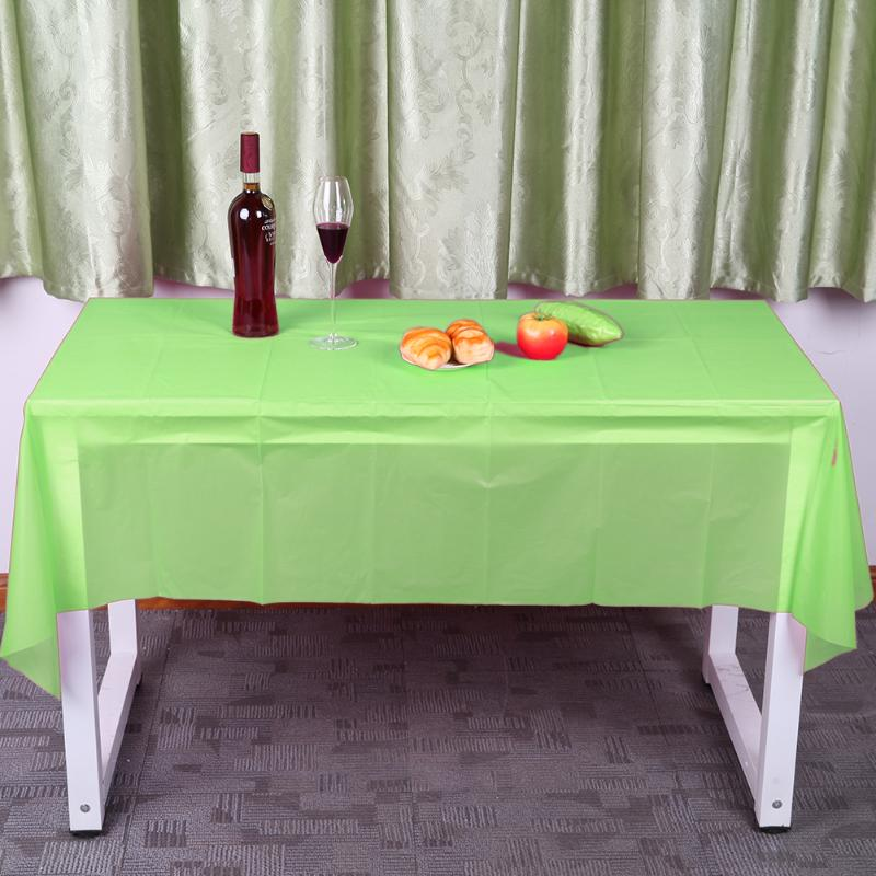 10color Tablecloth Rectangle Plastic Table Cover for Wedding Camping Catering Party Table Decoration 137X183cm