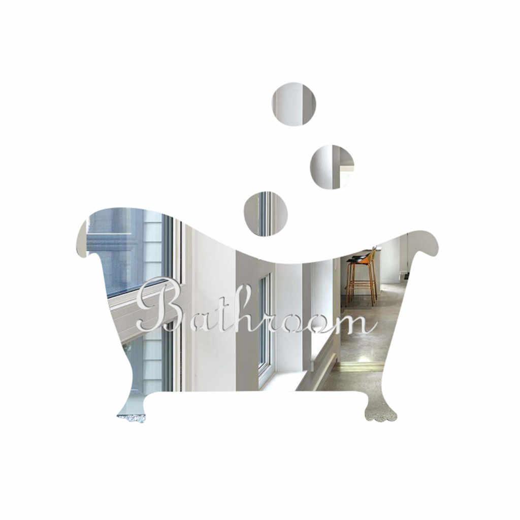 3D espejo pared pegatina divertida puerta señal de entrada niños hombres mujeres baño DIY pegatinas de pared calcomanías Bar decoración del hogar 2019 nuevo caliente #30