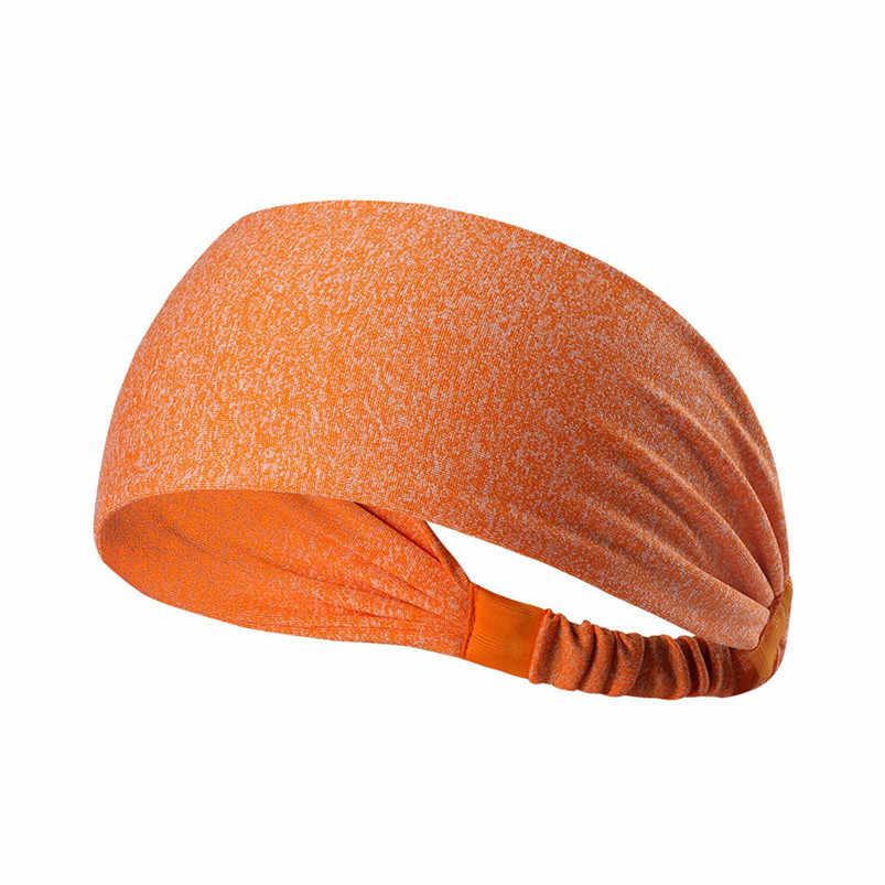 새로운 와이드 스포츠 머리띠 통기성 내구성 스트레치 탄성 요가 실행 headwrap 헤어 밴드 스포츠 안전 sweatband #4s19