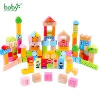 ของเล่นเด็กสำหรับเด็กบล็อกไม้Set-102พีซีที่มีบาร์เรลกระดาษCity Lifeสำหรับ