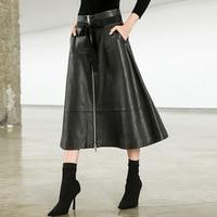 100% Genuine Leather Women Skirt
