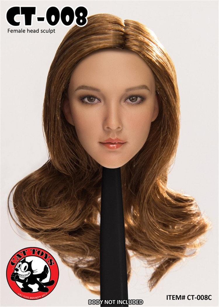 Custom 1/6 Asian Female Head Sculpt for PH TBL JIAO DOLL UD ND LD 12inch Collectible Action Figure Cat Toys CT008Custom 1/6 Asian Female Head Sculpt for PH TBL JIAO DOLL UD ND LD 12inch Collectible Action Figure Cat Toys CT008