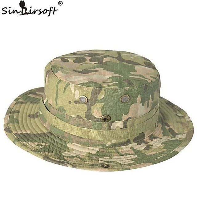 e0b0f60fa652d SINAIRSOFT Tactical Airsoft Sniper Camouflage Boonie Hats Nepalese Cap  Militares Army Mens American Military Accessories Hiking