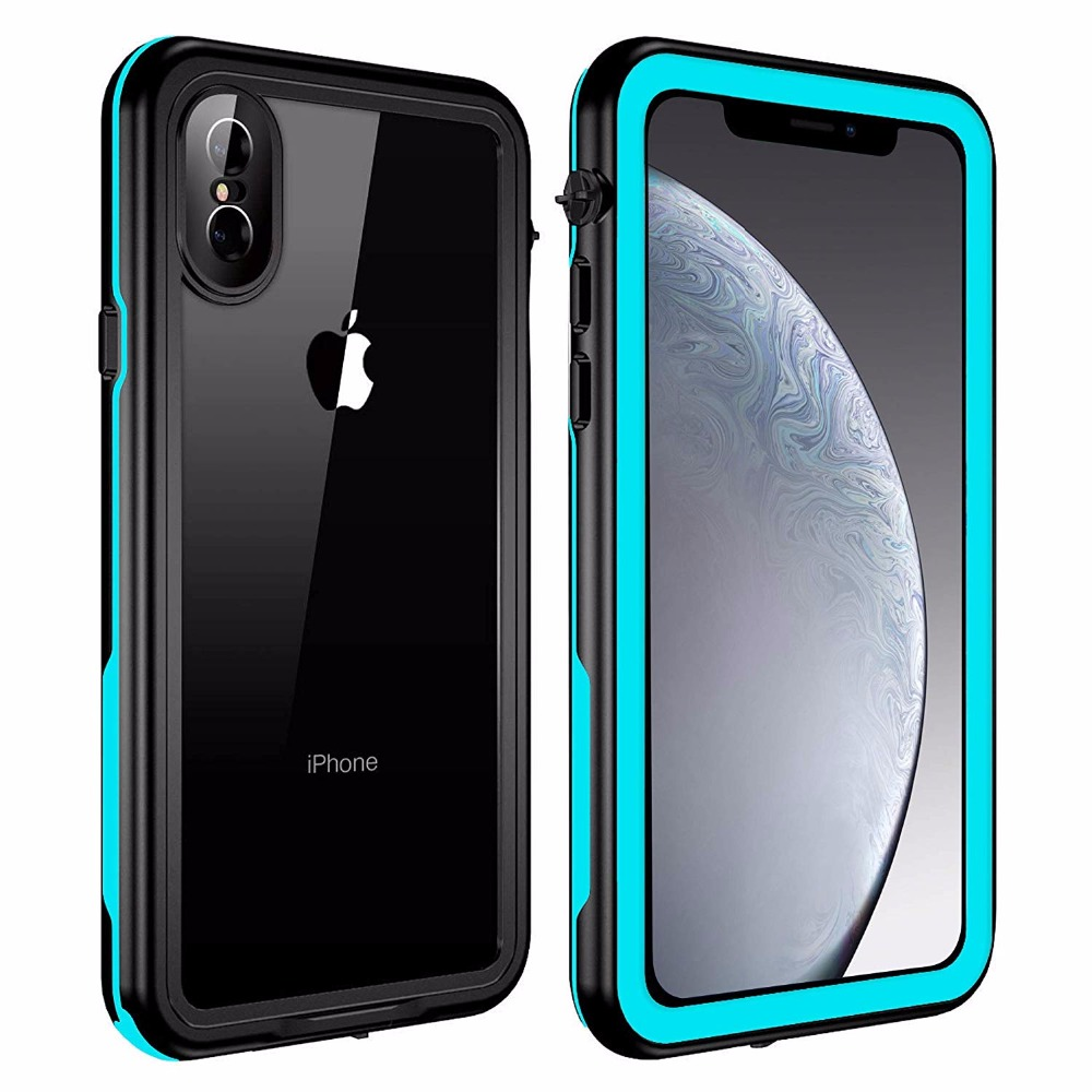 Redpepper For iPhone X Waterproof case 360 full-body plastic Shockproof Dirtproof for With Touch  ID Case Cover