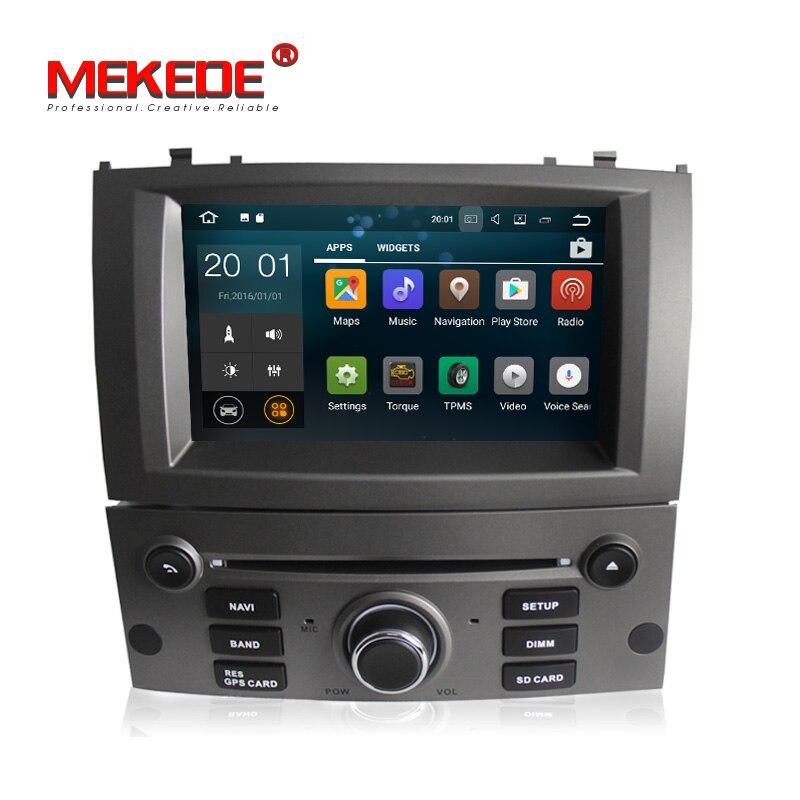 Android7.1 Voiture Lecteur DVD GPS Navigation Multimédia Stéréo Headunit pour Peugeot 407 2004 2005 2006 2007 2008 2009 2010 Autoradio