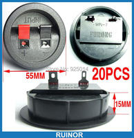 20PCS 2PIN Power Amplifiers PUSH SPEAKER Cables TERMINAL Binding Post
