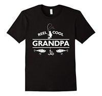Mens Reel Cool Grandpa Fishinger T-Shirt Father's Day Gift Men Cotton T-Shirt Printed T Shirt Top Tee Fashion Classic Plus Size