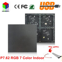 SMD P7 62 Indoor Full Color Led Module 32 32 Pixels 244 244mm Led Board For