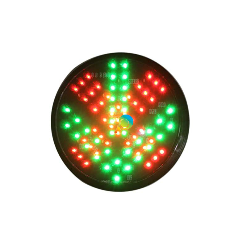 AC85-265V PC Housing Red Cross Green Arrow 2 In 1 LED Module Traffic Signal Light Replacement