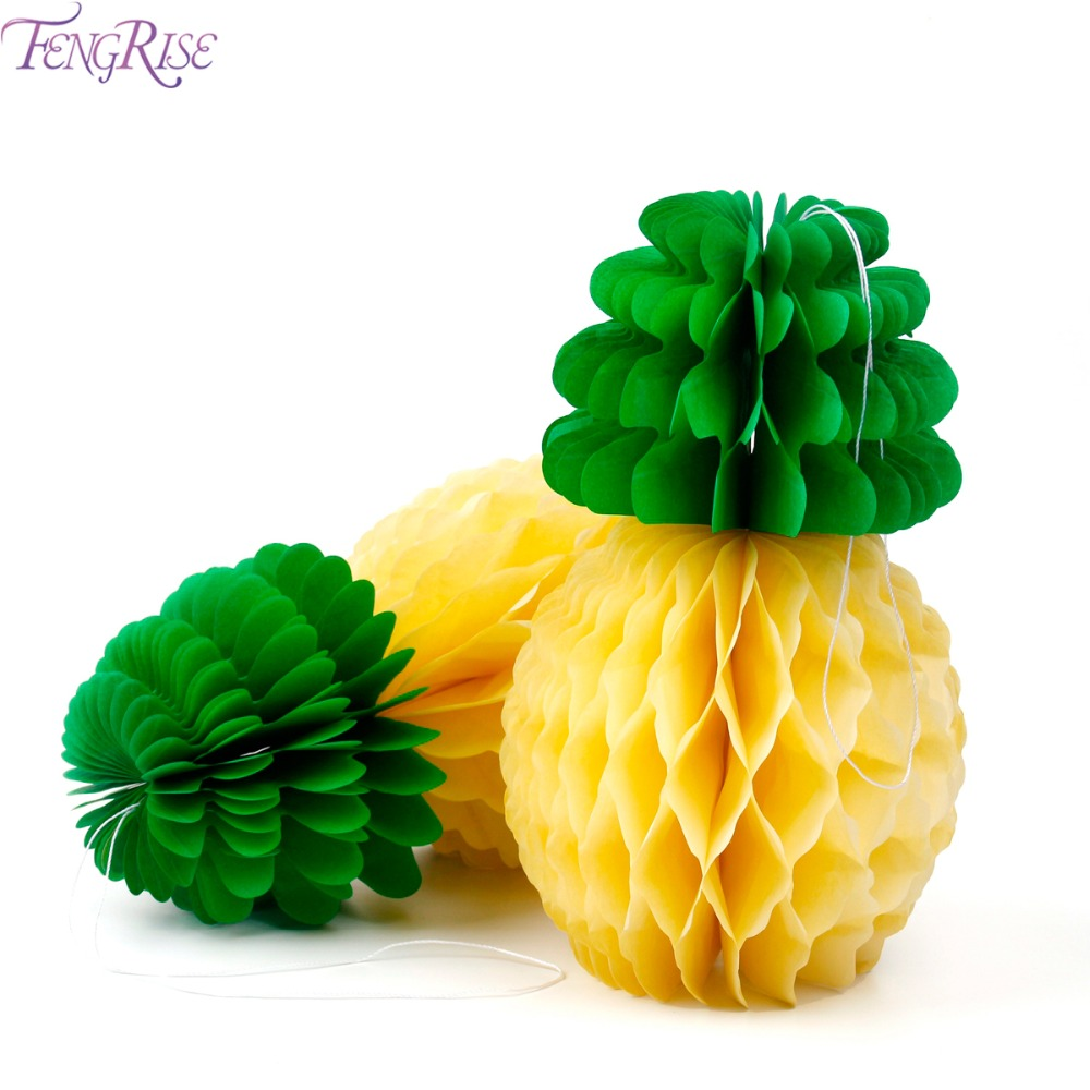 Fengrise 5pcs pineapple tissue paper honeycomb table luau hawaiian fengrise 5pcs pineapple tissue paper honeycomb table luau hawaiian party hanging decoration birthday party favors event izmirmasajfo