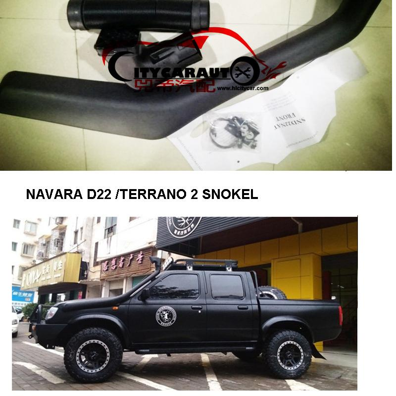 CITYCARAUTO SNOKEL KIT Fit NAVARA D22 TERRANO 2 Air Intake LLDPE Snorkel Kit Set D22 NAVARA citycarauto 2007 2011 airflow snokel fit for jeep wrangler jk series 3 8l v6 air ram intake snorkel kit black
