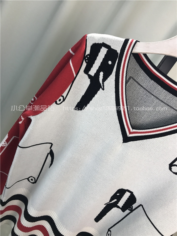 Printemps Pull Pantalon Femmes Mode Costume V Blanc Deux pièce Étudiants Tricot Casual cou En Abstrait Marque Long De Automne Motif Nouvelle SIx1pvqv