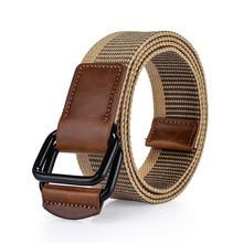 Military Belts Harajuku Men Belt For Jeans Cinturones Para Hombre Ceinture Double Boucle Modis Elastische Riem Outdoors