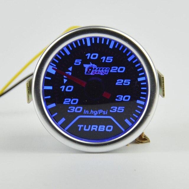 52mm  Car Turbo Boost Gauge Psi / Vacuum Meter Turbo Boost Pressure Gauge 52mm Auto Gauge Meter Smoke Vacuum Gauge