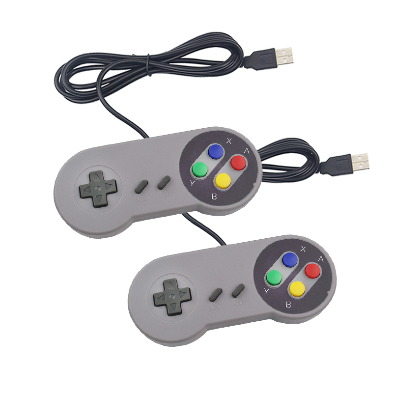 2 uds. Mando de juegos USB mando de juegos SNES mando de juegos Retro Gamepads para PC nespretropie Control de juego para Raspberry Pi 4 B Saturno 70W Era spb-6 LED moderno con Grupo remoto controlado regulable lámpara de cambio de Color sala de estar