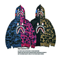 Men'S Hoodies Camouflage Sudaderas Hombre Printed Letters Clothing Street Hip Hop Costume Mans sweatshirt Hood Clothes Shark