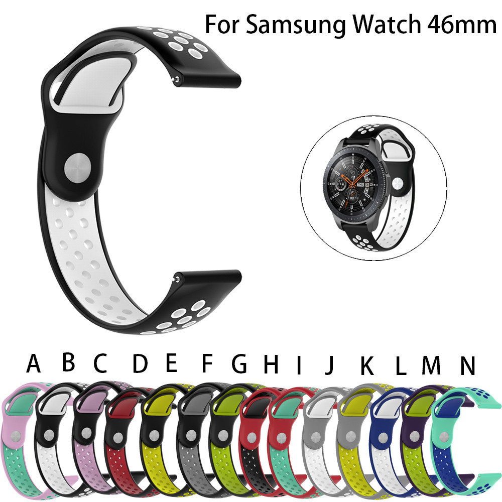 Silicone Band Wrist Strap 22mm For Samsung Galaxy watch Classic Smart Watch 46MM silicone rubber watchbands strap gear s3 band fashion woven nylon watch band loop strap for samsung galaxy watch 42 46mm colorful wrist band strap for samsung sports straps