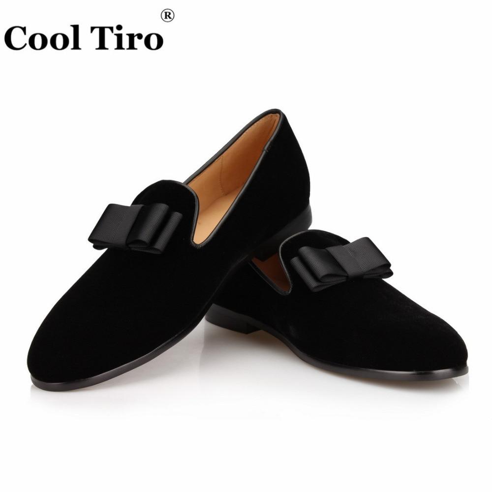 Classique Noir Mariage Hommes Appartements Et Mocassins Partie Arc Cool Livraison Velours Tiro Gratuite Main Cravate Pantoufles Chaussures De kwilOXZTPu