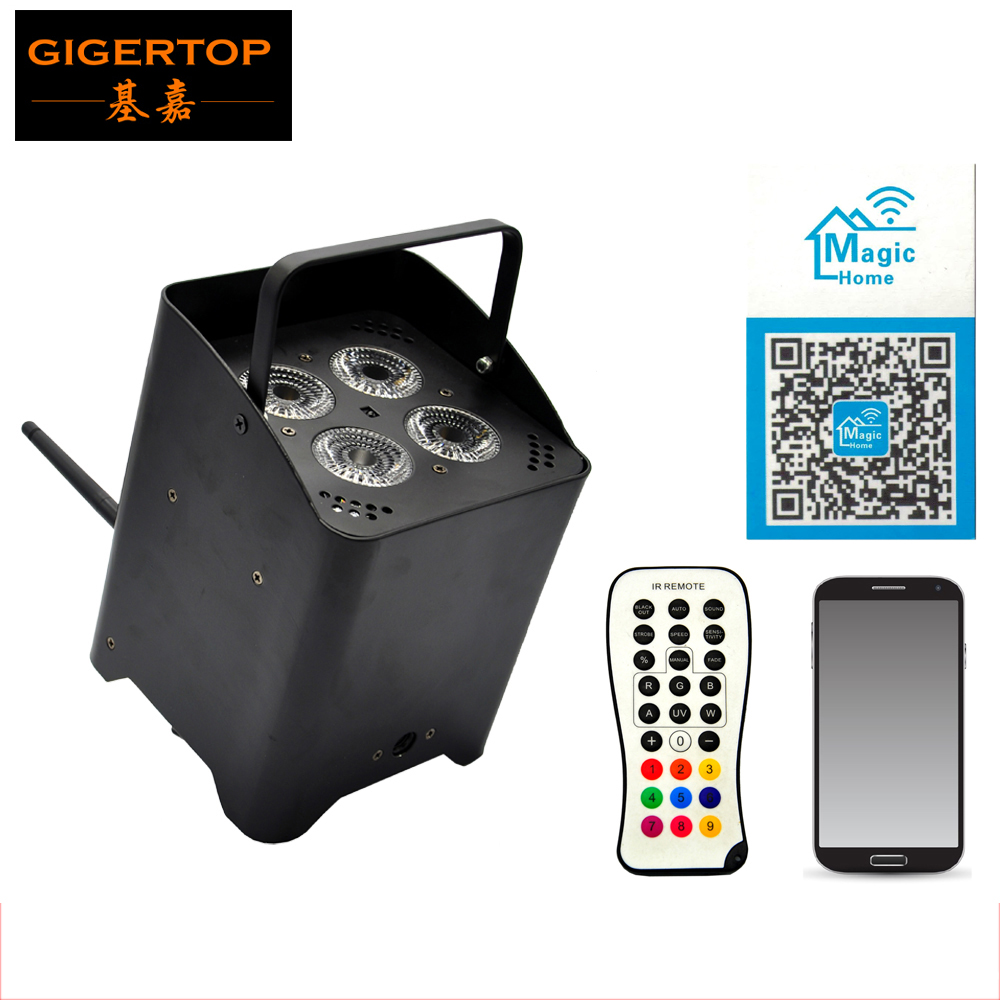 TIPTOP TP-G3045-6IN1 Battery Power Wireless/Infrared Remote Control 6IN1 Aluminum Led Par Light Freedom Mobile Phone Magic HomeTIPTOP TP-G3045-6IN1 Battery Power Wireless/Infrared Remote Control 6IN1 Aluminum Led Par Light Freedom Mobile Phone Magic Home