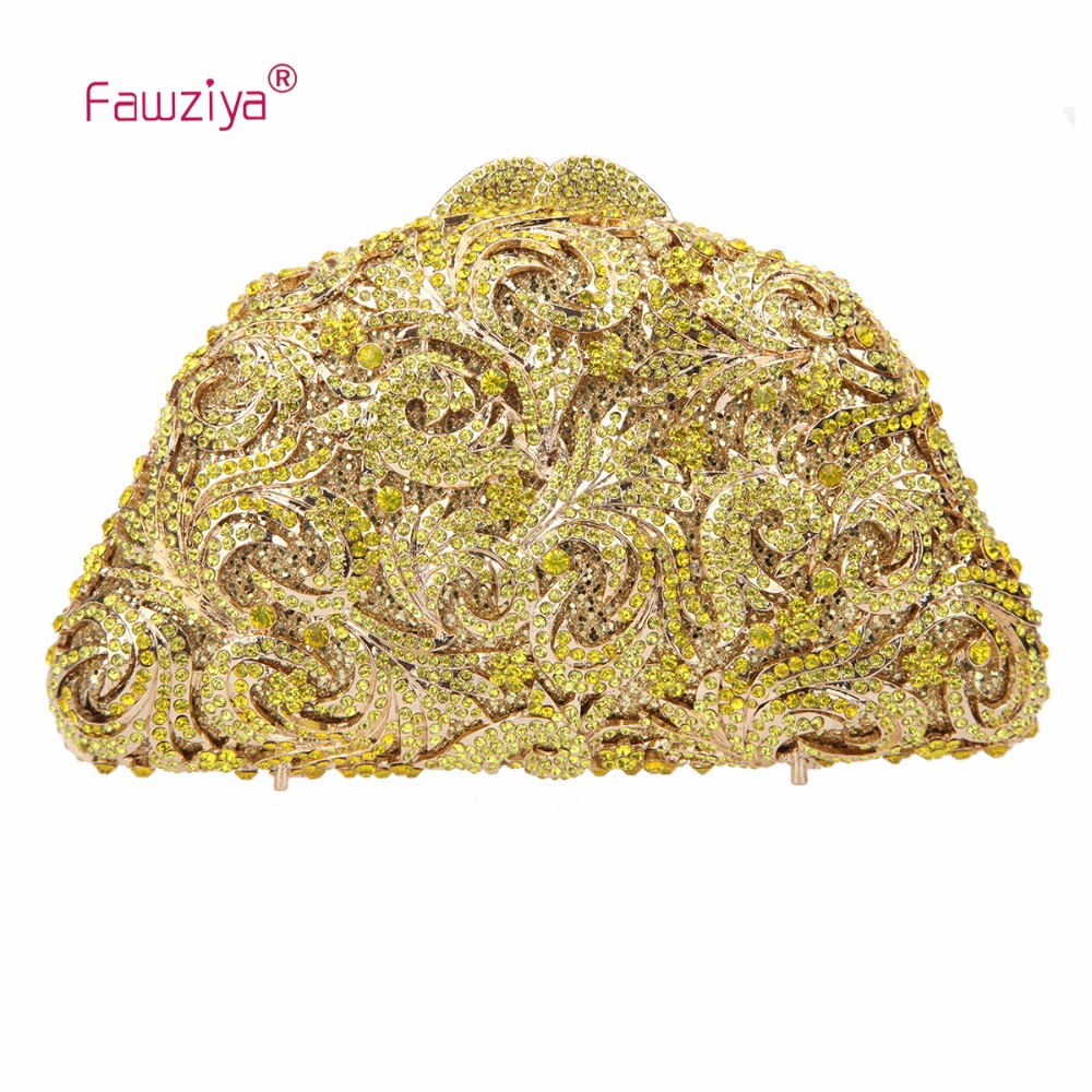 Fawziya Metallic Purses Feather Clutches For Women Evening Clutch Bag For Girls Purse fawziya apple clutch purses for women rhinestone clutch evening bag