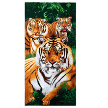 Home Textile Bath Towel Cartoon Animal Pattern Soft Microfiber Large Size Beach Towels 70*150 CM