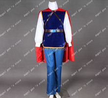 Free shipping Custom-made High quality snow White adult prince cosplay Costume