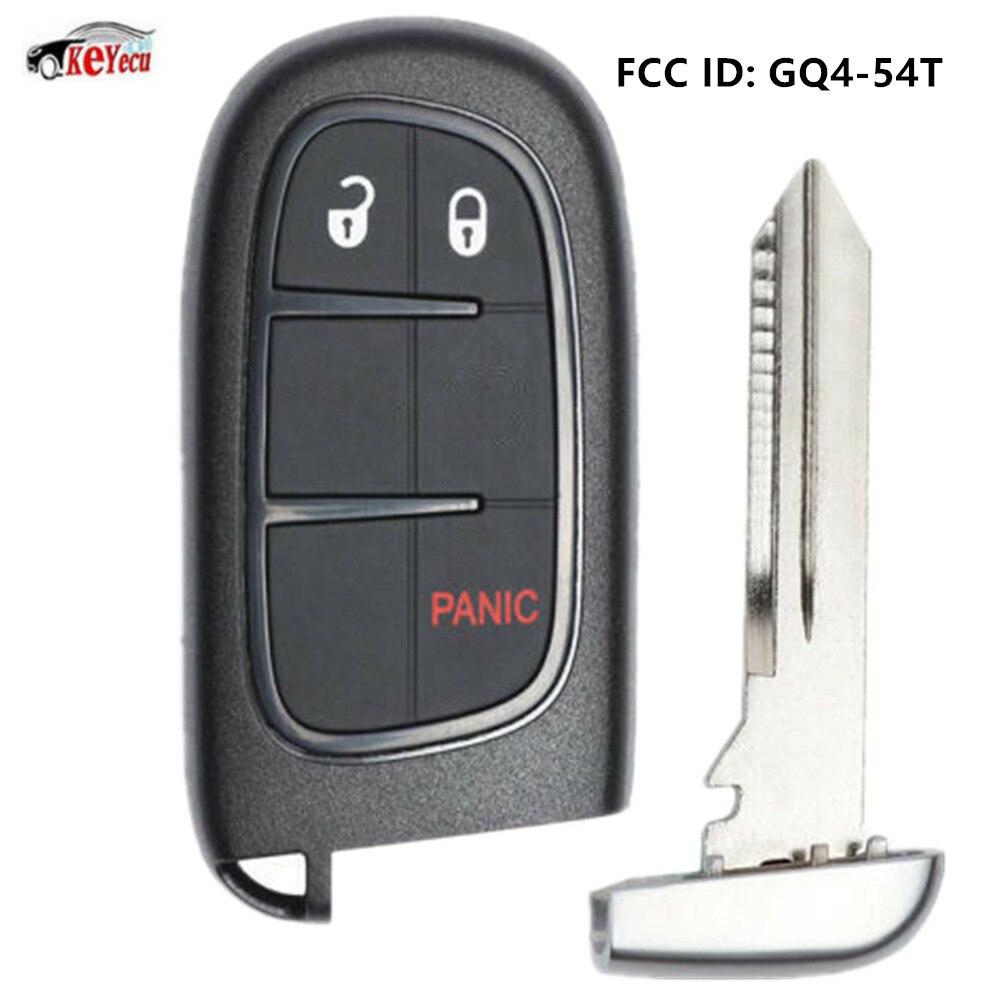 KEYECU démarrage à distance Smart voiture clé Fob 3 bouton 433 MHz ID46 puce pour Ram 1500, 2500, 3500 2013-2019-GQ4-54T