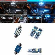 11 pz Bianco Car Interior Light Bulb Kit Per VW Golf 6 GTI MK6 2010-2015 Anteriore/Posteriore Dome Lampada Lettura ice blu rosa