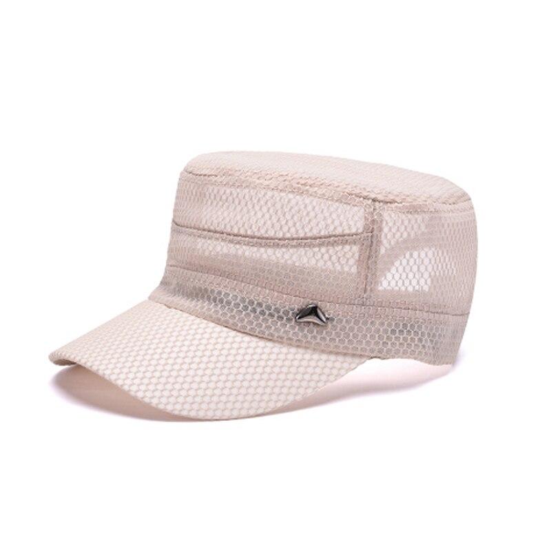 226b05ab3 AETRENDS] Breathable Mesh Flat Cap Summer Baseball Cap Men Flat ...