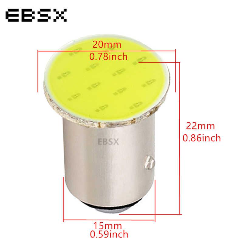 EBSX 10 шт. DC 24V S25 1156 BA15S P21W 1157 BAY15D P21/5 W COB 12 SMD белый синий красный автомобильный сигнал обратный светодиодный светильник тормозной светильник