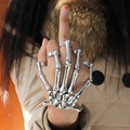 Women Fashion 3 Style Halloween Hand Skull  Skeleton Elastic Bracelet Bangle + Rings RCH Cool Free Shipping
