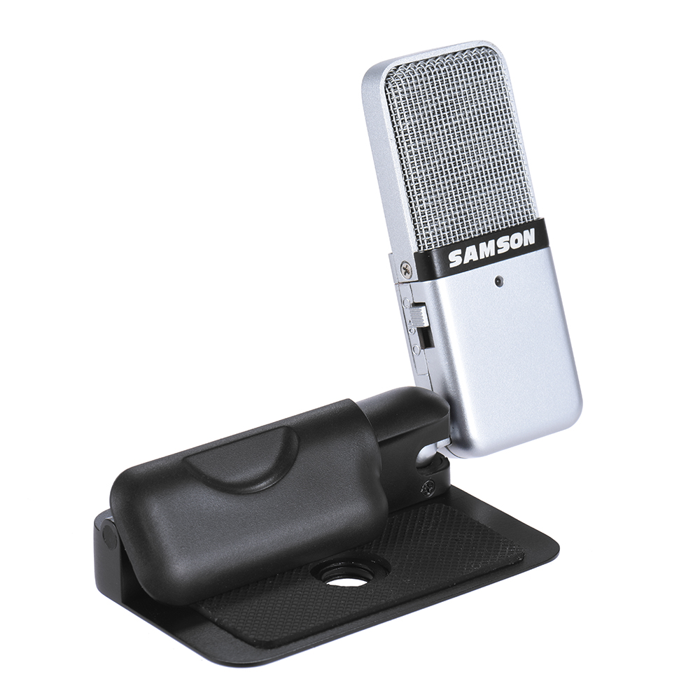 GO Mic Mini Portable Recording Condenser Microphone Clip on Design with USB Cable Carrying Case for