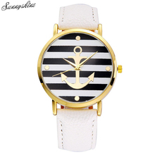 New Arrival Fashion Women Watches Leather strap Anchor Clock Women Dress Watches wholesaleF3