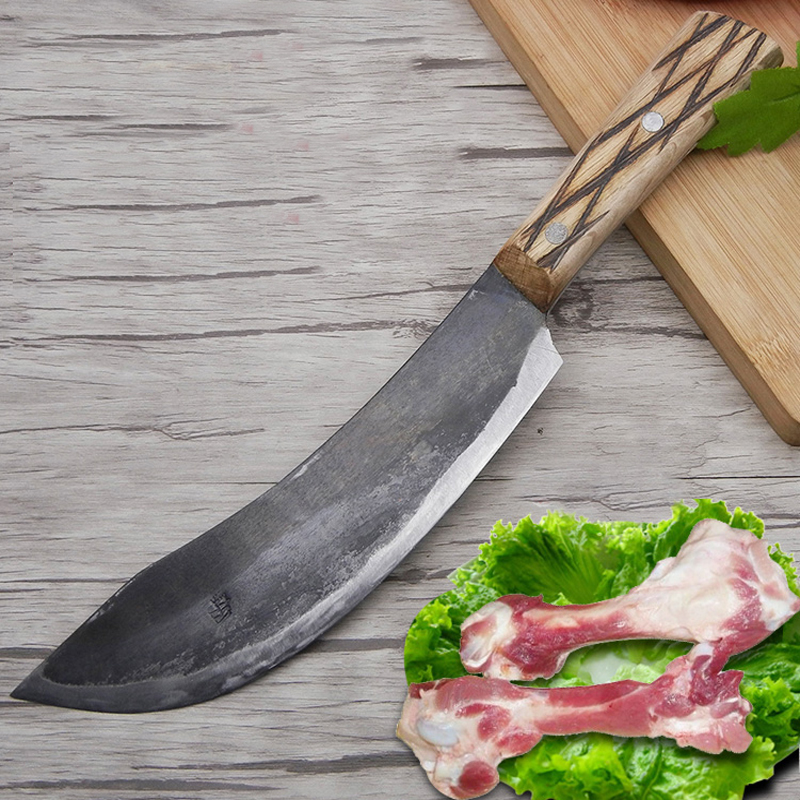 LD Livraison Gratuite En Métal Forgé À La Main Clip En Acier Chef Couteau À Désosser Split Boucher Viande Couteau de Cuisine Professionnel Tranchage Couteaux