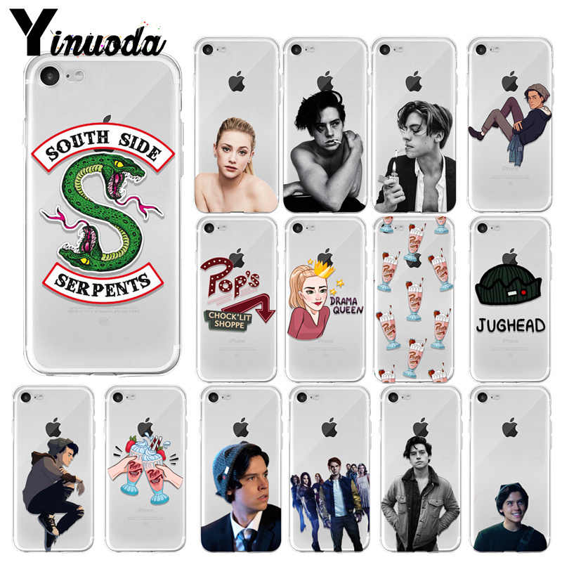 Yinuoda Riverdale South Side Serpents Cover Transparent Soft Shell Phone Case for iPhone 7 7plus X XS MAX 6 6S 8 8Plus 5 5S XR
