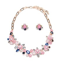 2016 Collares ZA Necklaces & Pendants Crystal Choker Necklace Flower Silver Chain Collier Femme Boho Kolye Accesorios Mujer Gift