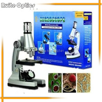 Children Birthday Gift 1200x Zoom Illuminated Monocular Biological Microscope with Reflecting Mirror Lamp for Student Education