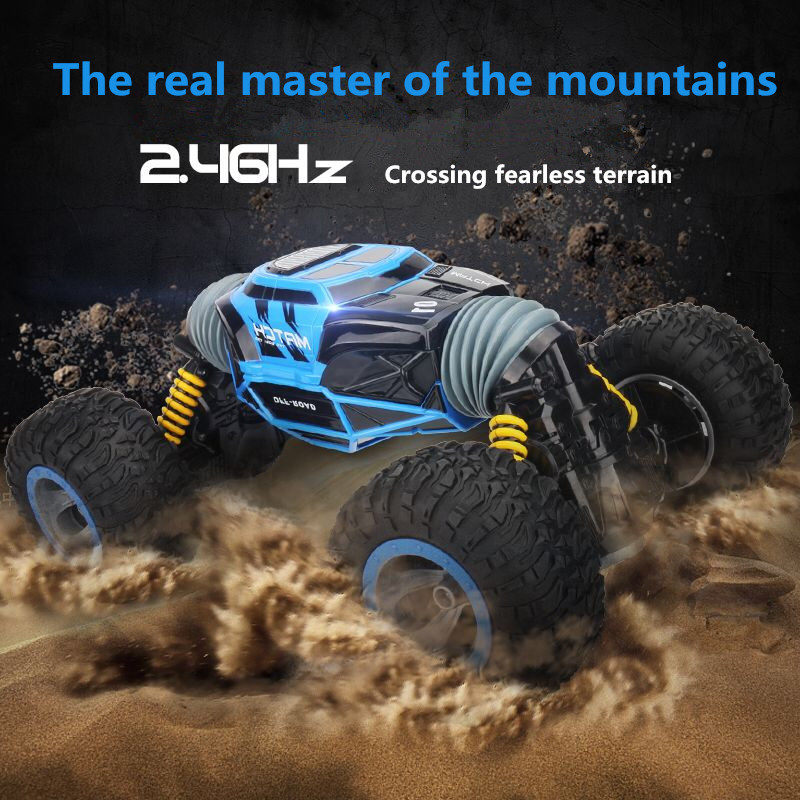 Image 5 - RC Car 4WD Truck Scale Double sided 2.4GHz  One Key Transformation All terrain Vehicle Varanid Climbing Car Remote Control Toys-in RC Cars from Toys & Hobbies