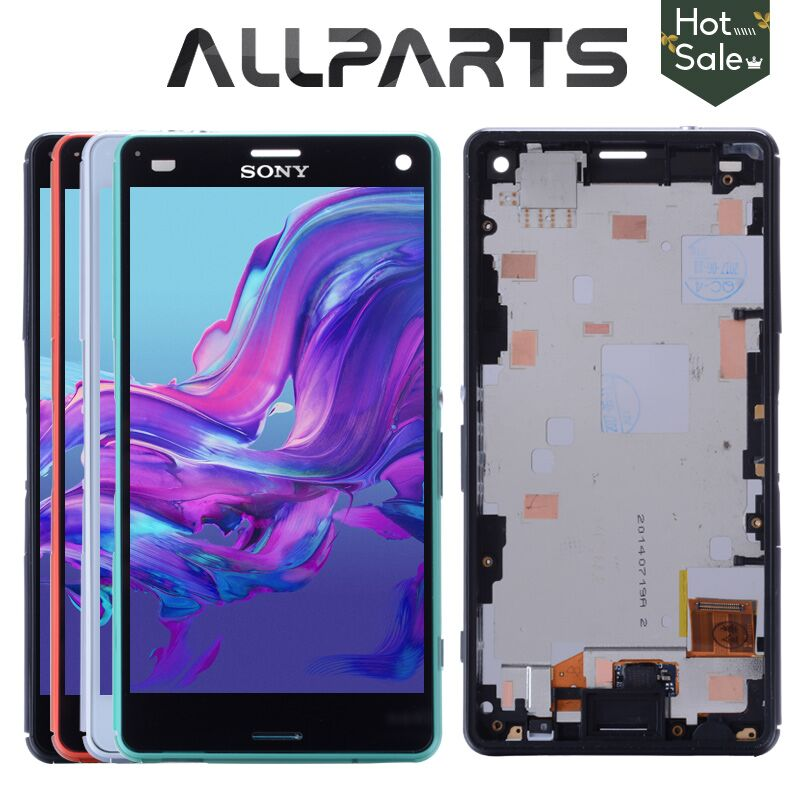 ORIGINALE Display LCD Touch Screen Per SONY Xperia Z3 Compatto Cornice Z3 Mini D5803 D5833 Digitizer Per SONY Xperia Z3 Compact LCD