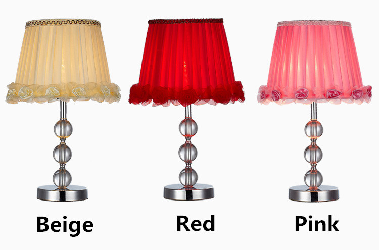 Modern High Grade Crystal Lamp Shade Romantic Roses Side